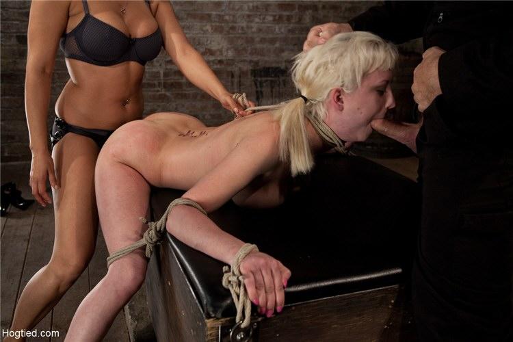 Her first bondage slut load