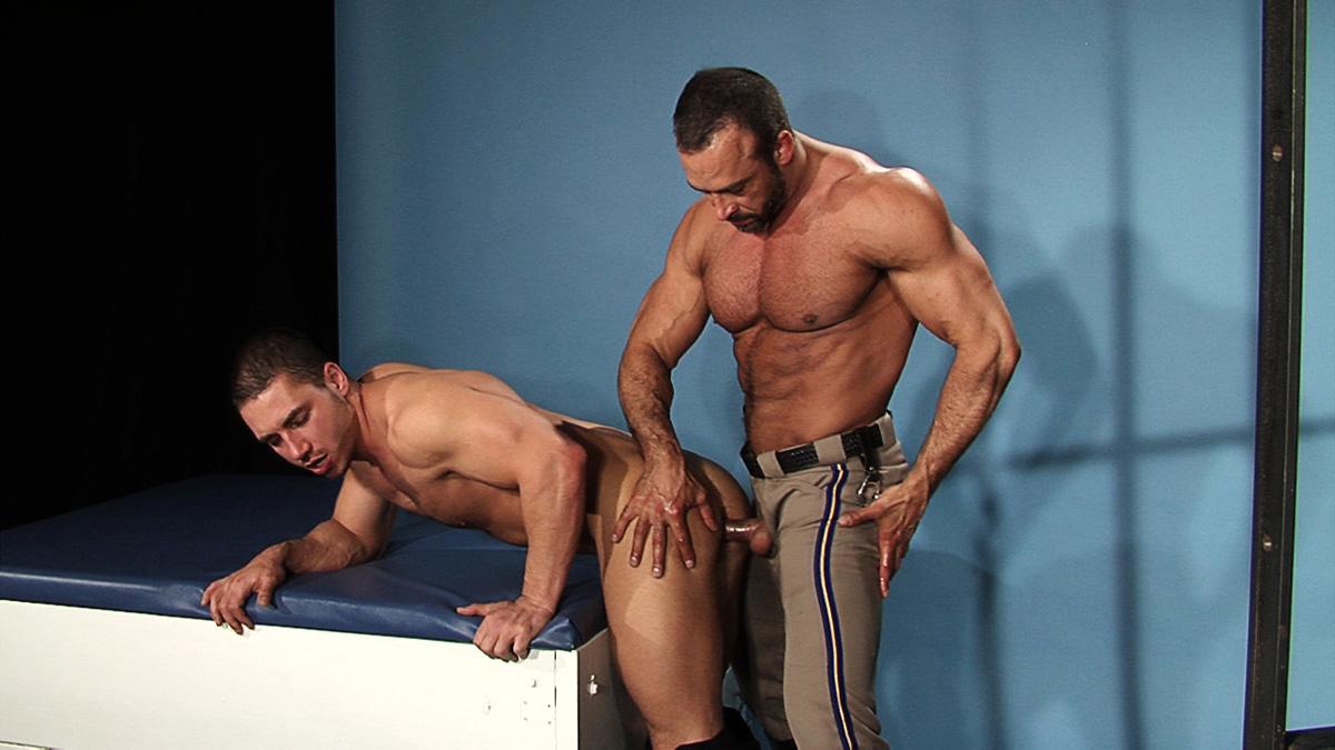 Men in uniform gay porn