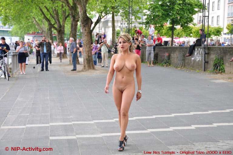 Remarkable Nude people in public