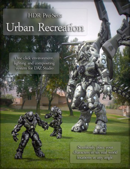 HDR Pro Sets Urban Recreation for DAZ Studio