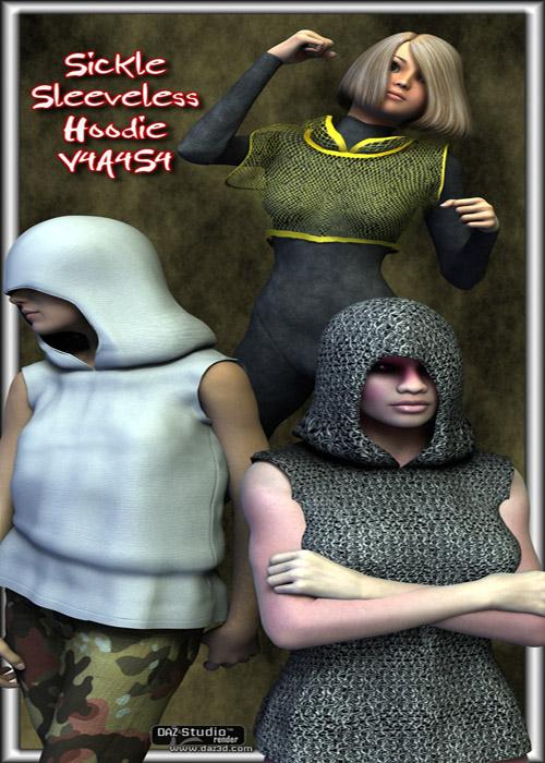 Sickle Sleeveless Hoodie V4A4S4