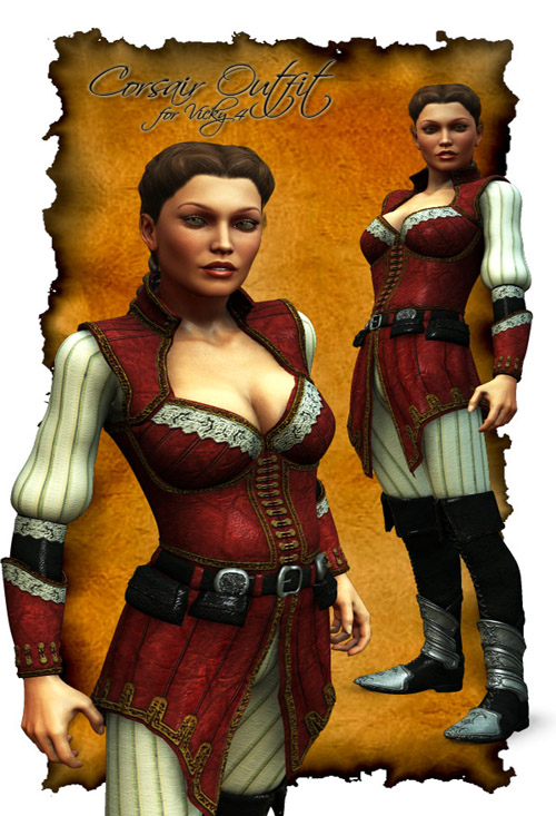 Corsair Outfit for Vicky 4.1