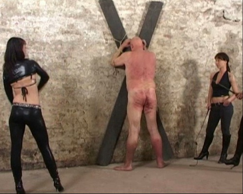Whipping After Caning Female Domination