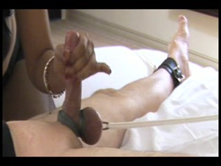 Balls tied and Milked Female Domination