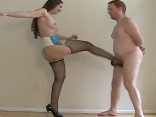 Ballbusting in Nylons Female Domination