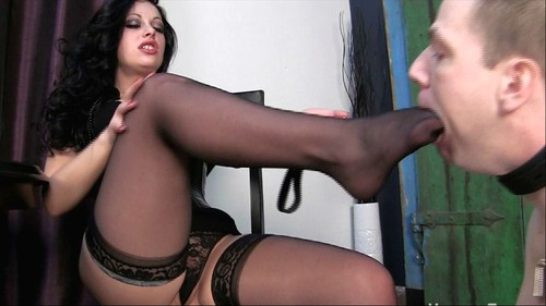 Well Trained Stocking Slave Female Domination