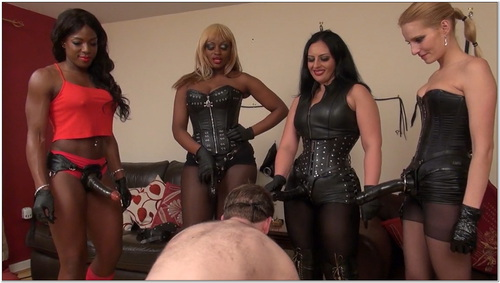 The Strapon Gangbang Female Domination