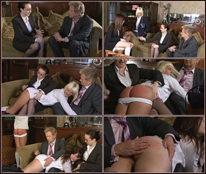 2 Teens In Trouble  Spanking