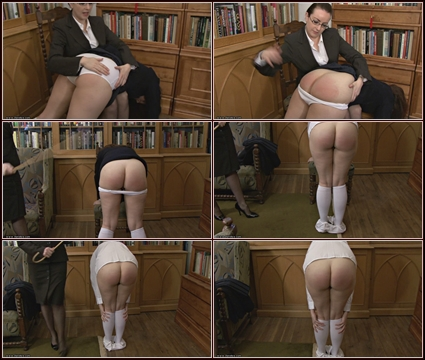A Visit To Miss Woods Study  Spanking
