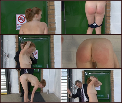Justine's Bare Bottom   Spanking