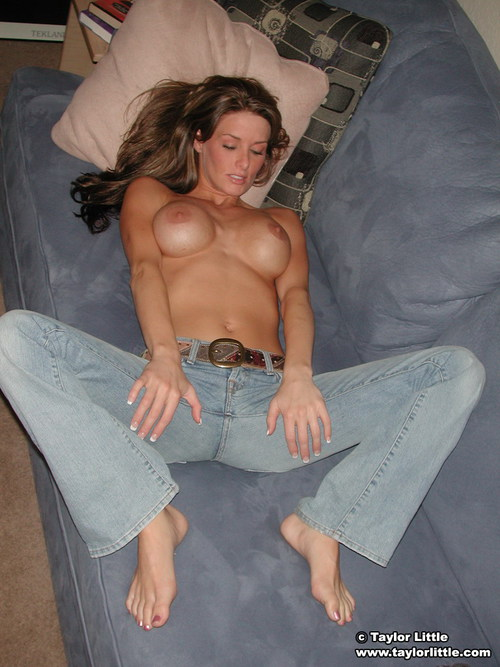 Jeans and heels tied up