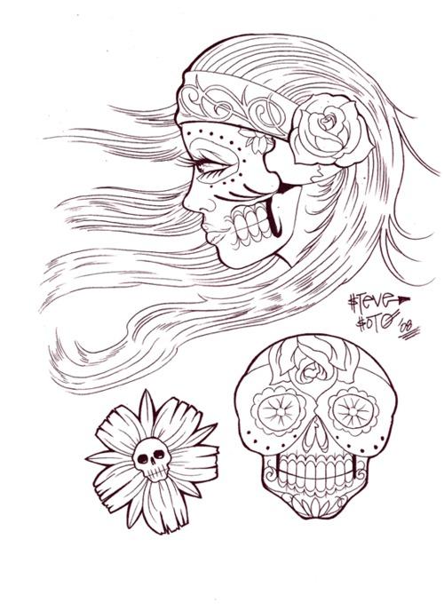 Flash para tattoos, Libro de los muertos Steve Soto