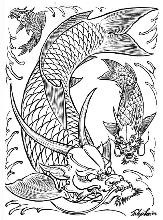 Dragones flash tattoo