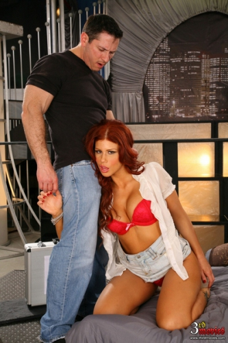 Brooklyn Lee - Redhaired Brooklyn Lee Gets Some Butt Sex