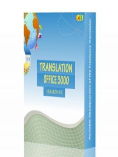 Translation Office 3000 v10.0.0.1045 (Multilg-ESP) (Multih) Translation