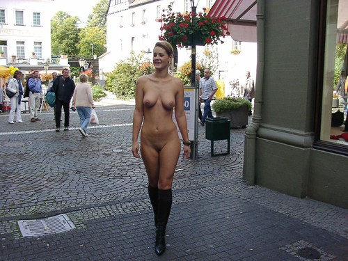 Naked girls in public places
