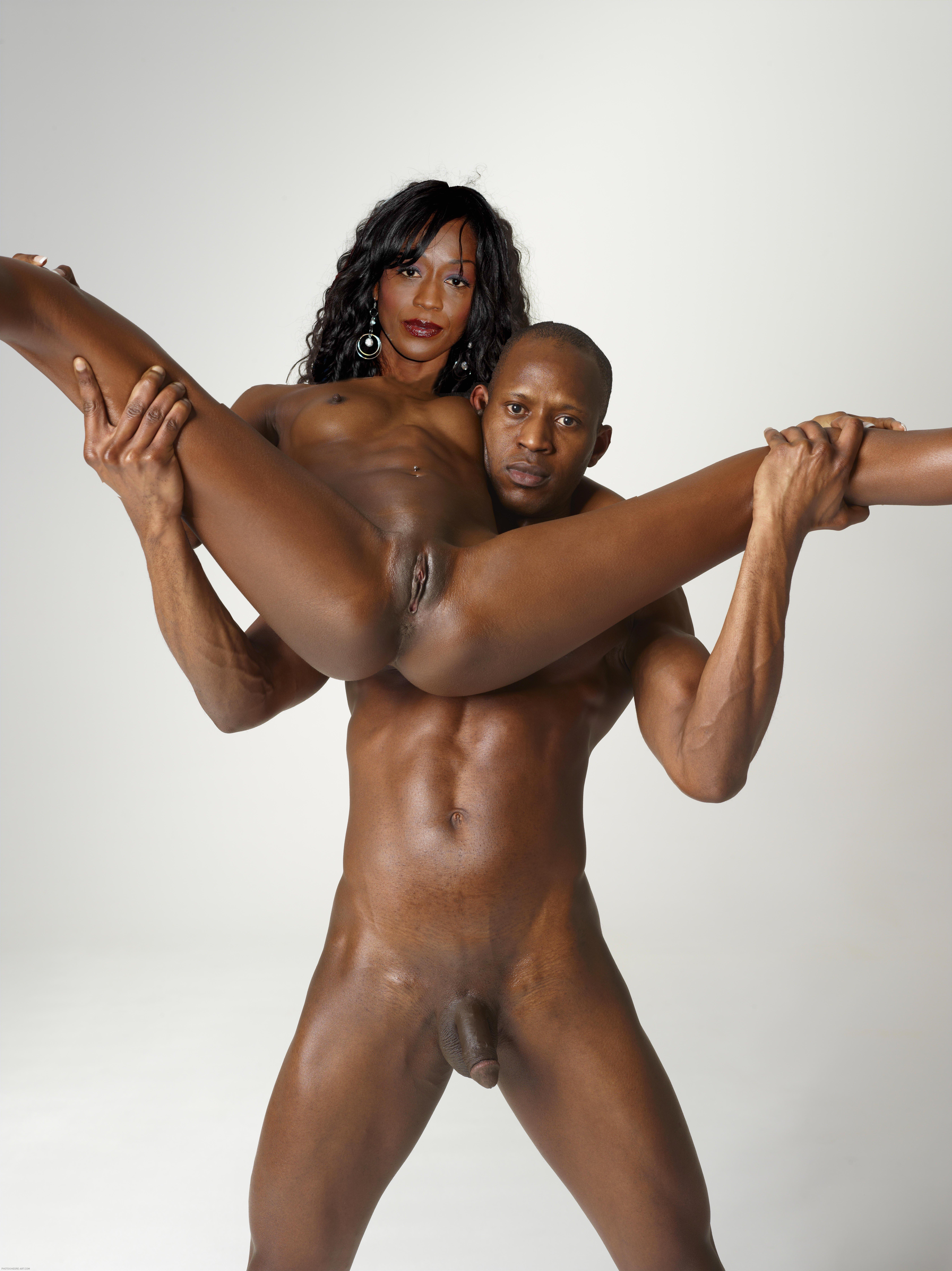 Black naked athletes