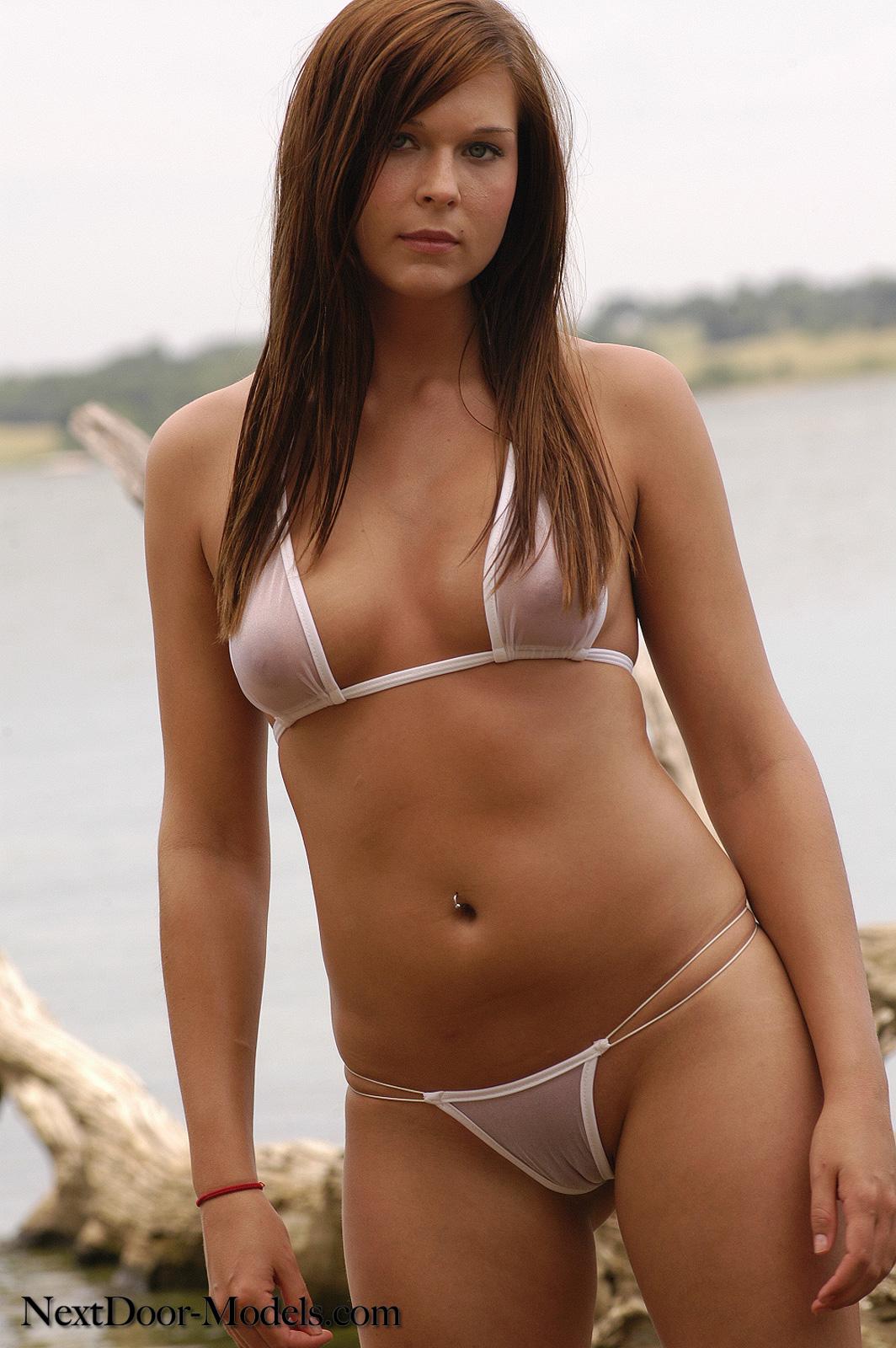 Contest sheer bikini