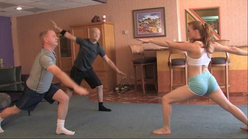 Yoga Ballbusting Femdom